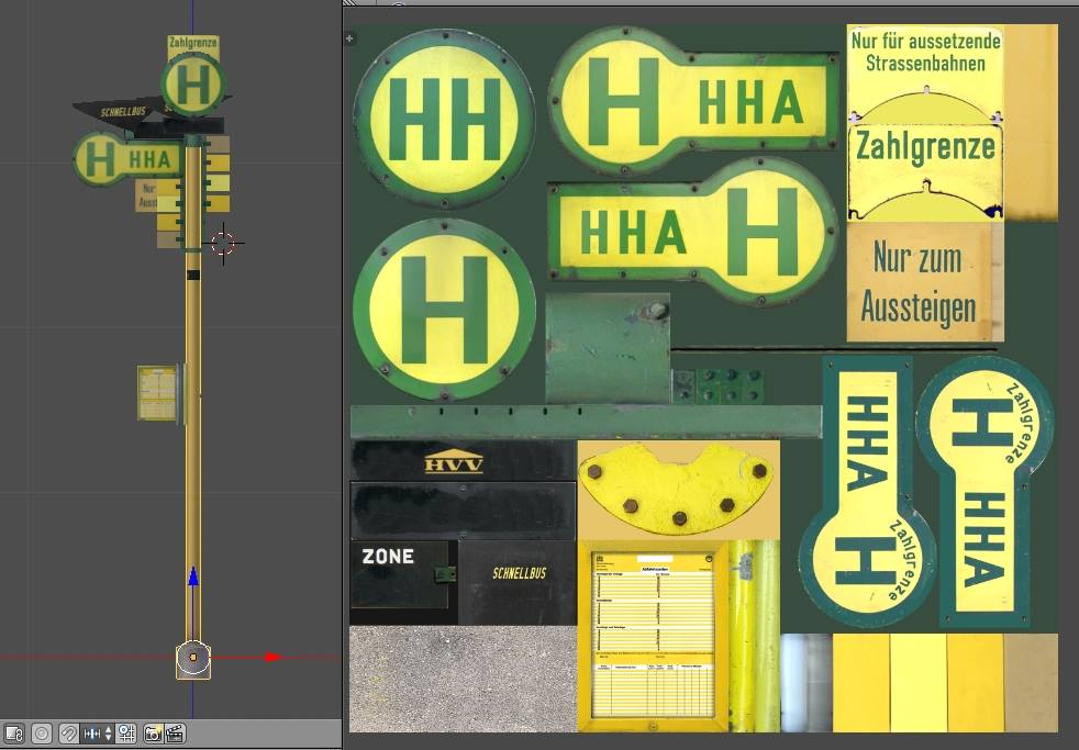 Textury označníků